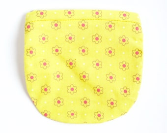 Yellow floral kids coin purse