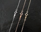 14K Gold Chain - 18 Inch Solid Yellow Gold, White Gold, or Rose Gold - Finished Chain With Clasp