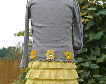Yellow Favorite Ruffle Skirt, s. 2, 3, 4, 5, 6, 6x, 7, 8