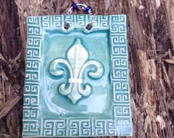 FLeur de Lis Tile in Turquoise