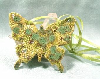 Handmade  Ceramic Butterfly Ornament