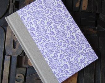 Lavender Floral  Large Blank Journal