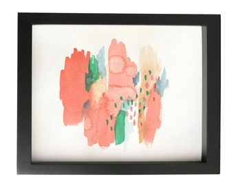 Head in the Clouds Framed Original Watercolor