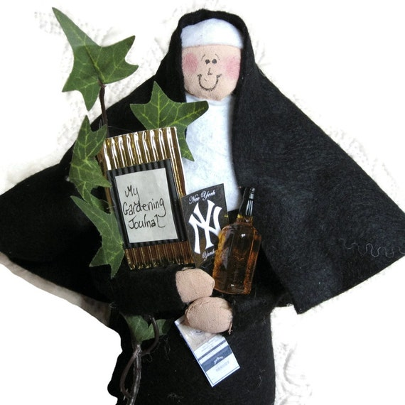 Nun Doll Catholic gift- -Personalized Sister