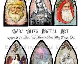 Christmas, The Season Of Giving, Sharing and Love... a digital collage sheet for glass arches,  INSTANT Download At Checkout...