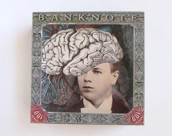 einstein - acrylic art block