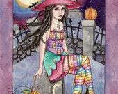 Halloween Art Print - Kamaria - 8 x 10 Fantasy Art Print - by Nikki Burnette