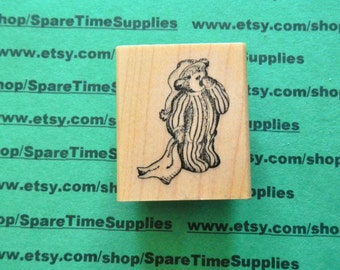 DEL-E563 BedTime Bear - Mounted Rubber Stamp