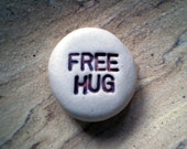Care Package Gift, Free Hug,  Message Stone