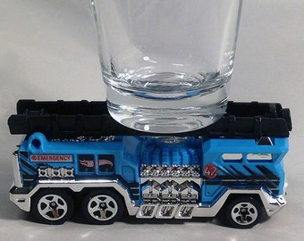 the ORIGINAL Hot Shots Shot Glass, 5 Alarm Ladder Truck, Fire Truck