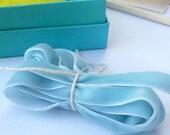 Pale Blue velvet Ribbon Trim 2 metres in length -  2 yds Lovely Ribbon
