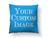 Made to Order CUSTOM Throw Pillow - Submit Your Artwork, Design, Photograph // Spun Polyester Throw Pillow Case, Cover - Made in USA