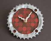bicycle clock - red circles
