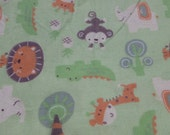 Animals at Play Baby Blanket