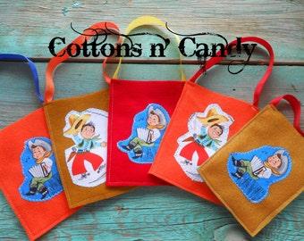 Cowboy goodie bags, goody bags, cowboy, treat bags, western