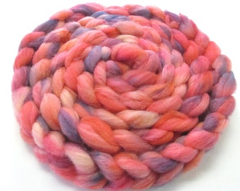 4 oz Hand Dyed Targhee Wool Roving, Sliver for Hand Spinning