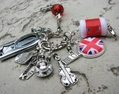 Sherlock Knitter's Chatelaine with Non-Snag Stitch Markers, Row Counter & Folding Scissors on a Decorative Clasp