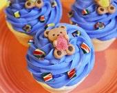 Cupcake Bath Bomb Jumbo Candy Shop Gumdrop - Teddy Bear, Frosted Bath Bomb, Bath Fizzy, Christmas Gift, Stocking Stuffer, Gumdrop Candy