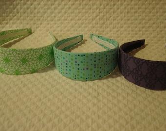 Green, Turquoise, and Purple Headbands