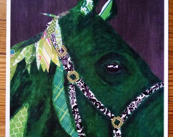 Green Horse Limited Edition Print. Sale