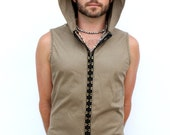 Pacha Play Mens Orion Vest- hooded with hooks up front