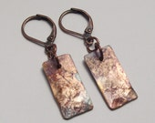 SmALL ReCtaNgLe cOpPeR eArRiNgs, oXiDiZed rEcYcLeD MeTaL
