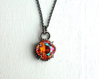 Handmade Sunrise Swarovski Crystal Pendant