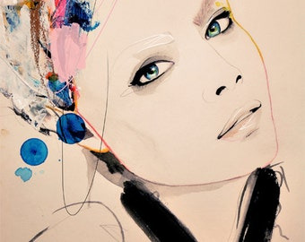 "Fashion Illustration Print ""Abiding"" by Leigh Viner"