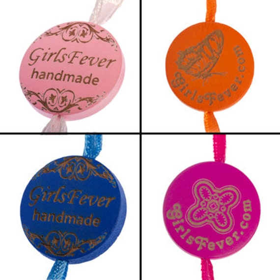 Custom wooden tags / labels garment tags personalized labels for your knitwear