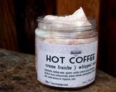 Soap Hot Coffee 4 oz Creme Fraiche Whipped Soap VEGAN Savor