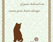Pet Sympathy Card - Cat Sympathy