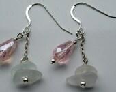 Sterling Silver Sea Glass Earrings Sea Glass Jewelry E-78