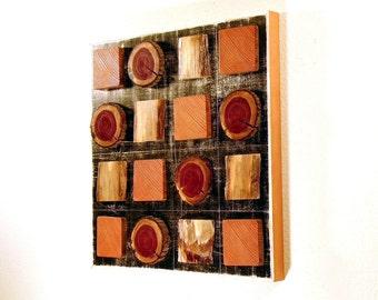 Quadro : Rustic Cool Reclaimed Wood Wall Sculpture