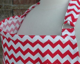 Nursing Cover-Red Chevron-Free Shipping When Purchased With A Wrap