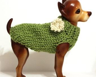 Grass Green Dog Sweater