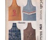 Vintage Sewing Pattern 1963 McCalls 6794 Sling Handbags with Appliqued Alphabet Initials