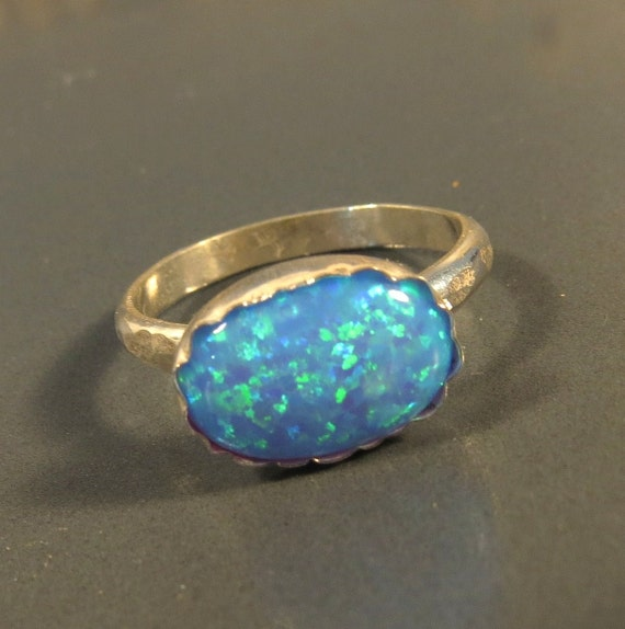 Items Similar To Opal Ring Exquisite Braided Opal: Items Similar To Blue Opal Ring, Opal Engagement Ring