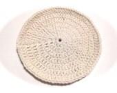 Ecru Crocheted Round Dish Cloth
