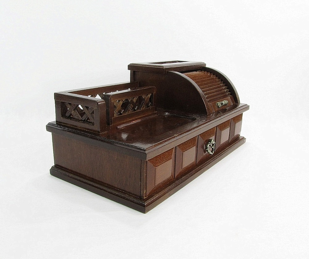 Vintage jewelry box mens valet change holder key holder for Jewelry box with key