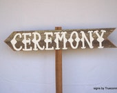 CARNIVAL Freak Ceremony Sign Wedding Sign Outdoor Weddings Hand Painted Reclaimed Wood. Rustic Weddings LARGE Weddings Road Signs Barn Wood