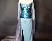 Elsa Costume Dress from Frozen available to ship Size 8