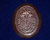 Hand Forged and Hand Hammered Single Copper Brooch Featuring a Tree of Life in Celtic Knotwork- FREE SHIPPING