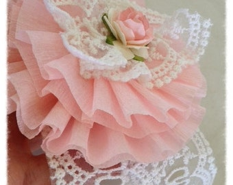 Shabby Chic Winner's Ribbon Birthday Decoration for Birthday Party or Tea Party