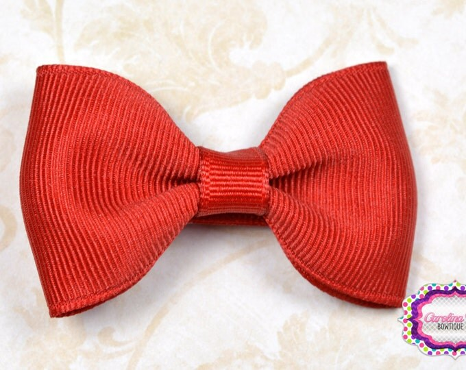 "Red 2.5"" Hair Bow Tuxedo Bow Simple Bow Boutique Bow for Babies Toddlers Girls Hair Bows"