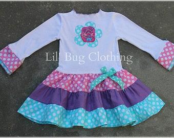 Abby Cadabby Tiered Dress,  Abby Cadabby Birthday Girl Dress, Abby Cadabby Girl Outfit, Abby Cadabby Birthday Party