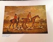 Hunting Scene Ben Marshall Horses Fox Hounds  Vintage Art Plate 8 by 11 Library Reference Book Quality Perfect For Altered Art Supplies