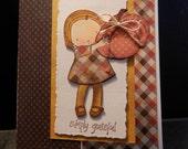 Greeting Card Fall Thanksgiving Handmade Simply Grateful