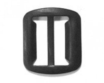 """200 PIECES - 3/4"""" - Metal Vest Adjustable Slide BUCKLE - NO teeth - China Black"""