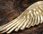 Artisan Angel Wing Pendant in Golden Bronze -210br
