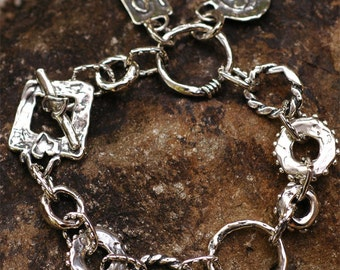 Love is Everything Sterling Silver Bracelet by Cathy Dailey